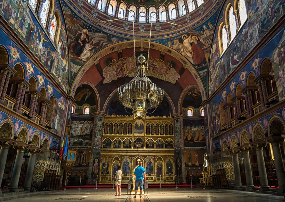 Inside Sibiu Orthodox Church