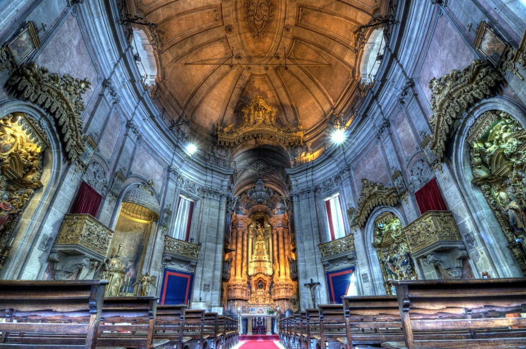Clrigos Church Interior, Porto, Portugal.