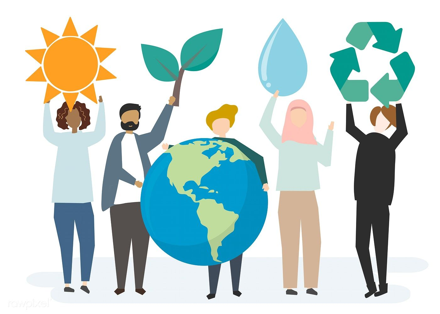 people, planet, recycle